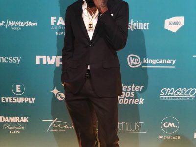 Gister stond Dopebwoy op de rode loper bij de Edison Pop prijs!