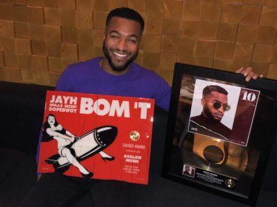 """Album """"10"""" Goud en single """"Bom't"""" Goud van Jayh"""