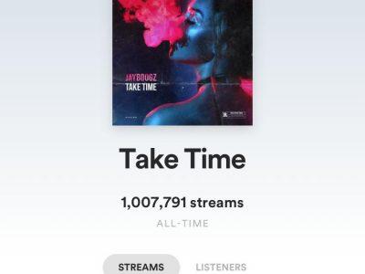 Take Time 1 MILJOEN streams behaald!